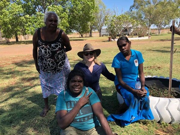 Team visit to Goanna Dreaming site
